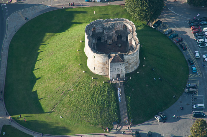 Cliffords Tower The Keep Of York Castle Is A Great Land Mark On A